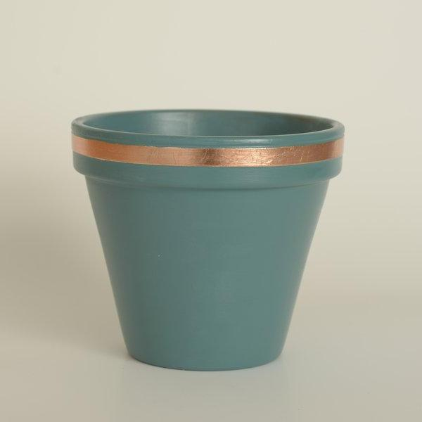 Large Gilded Plant Pots by Elsker Creations on OOSTOR.com