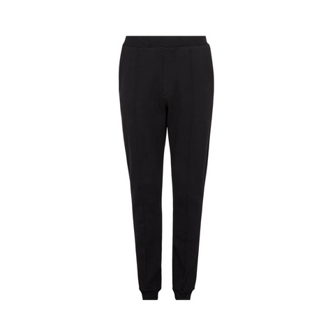 Black Cotton Cashmere Jogging Trousers by Tress Clothing on OOSTOR.com