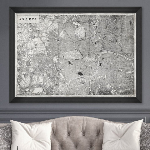 London Map Art Print by Pad Home on OOSTOR.com