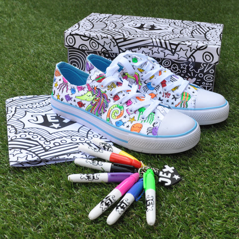 Adventure Under The Sea Colour In Shoes by Jex Shoes on OOSTOR.com