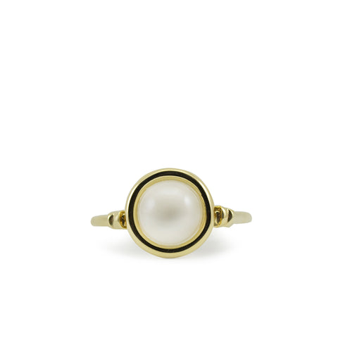 Satellites Moonstone Gold Ring by Vintouch Jewels on OOSTOR.com
