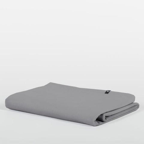 Dark Grey Pure Cotton Flat Bed Sheet by HOP Design on OOSTOR.com