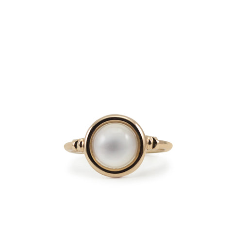 Satellites Moonstone Rose Gold Ring by Vintouch Jewels on OOSTOR.com