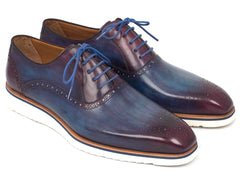 Paul Parkman Smart Casual Shoes For Men Blue & Purple by PAUL PARKMAN on OOSTOR.com