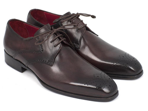 Paul Parkman Men's Brown Medallion Toe Derby Shoes by PAUL PARKMAN on OOSTOR.com