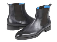 Paul Parkman Black & Gray Chelsea Boots by PAUL PARKMAN on OOSTOR.com