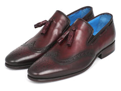 Paul Parkman Men's Wingtip Tassel Loafers Bordeaux by PAUL PARKMAN on OOSTOR.com