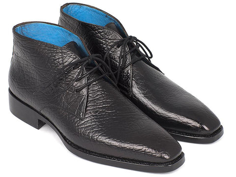 Paul Parkman Men's Chukka Boots Black by PAUL PARKMAN on OOSTOR.com