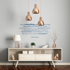 I Believe Everything Happens For A Reason' Quote Wall Sticker_Leonora Hammond_OOSTOR.com