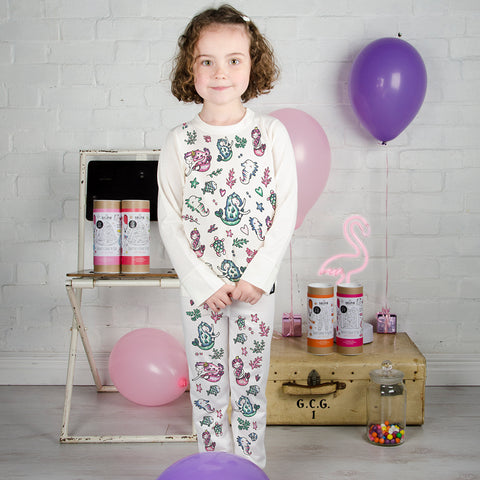 Mermaid Colour In Pyjamas With Fabric Pens by Selfie Clothing Co on OOSTOR.com