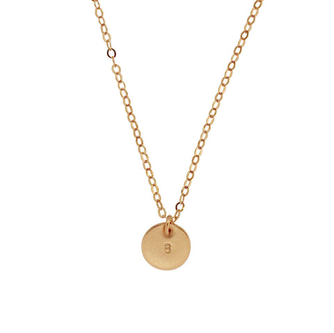 Mini Gold Personalised Disc necklace