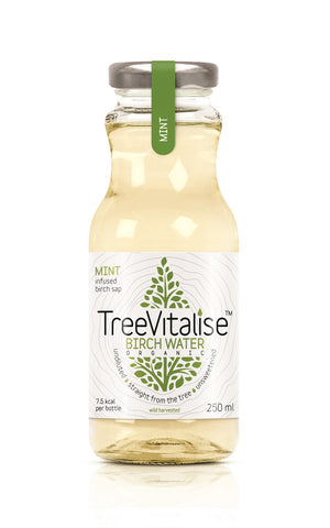 TreeVitalise Organic Birch Water - Mint (15 x 250ml)