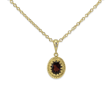 Luccichio Garnet Gold Necklace