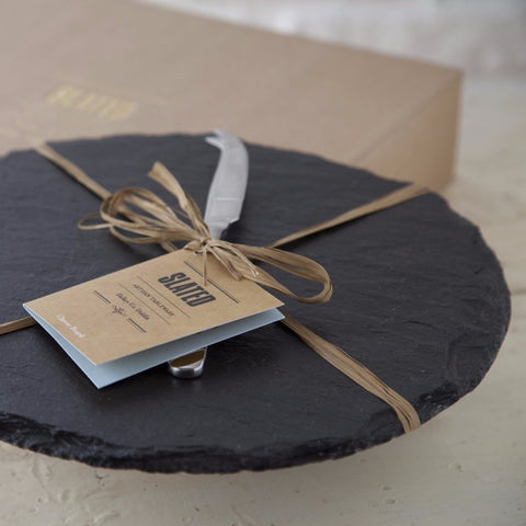 Round Slate Cheeseboard by Slated on OOSTOR.com