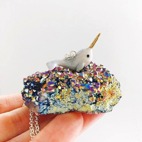 Mythical Narwhal, Pegasus or Unicorn Necklace