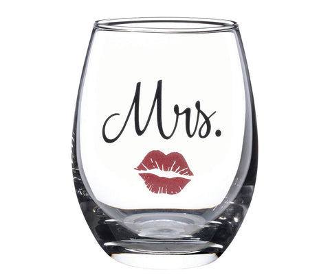 Mrs. Wine Glass With Red Lips by Sole Favors on OOSTOR.com