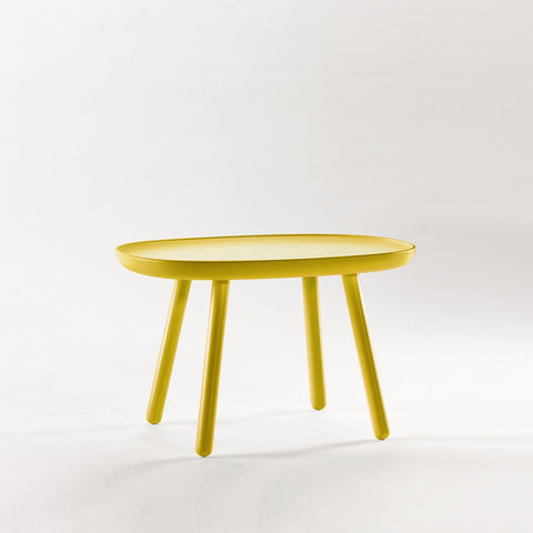 Naïve Side Table, Rectangular L610, Yellow by EMKO