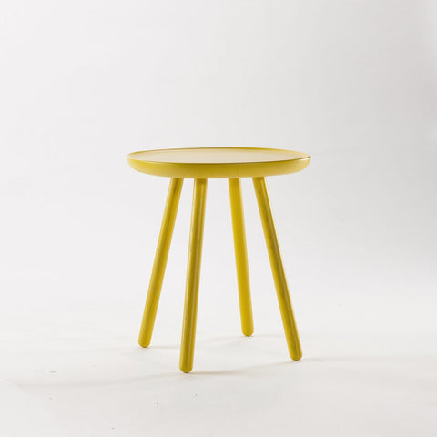 Naïve Side Table, Square D450, Yellow by EMKO