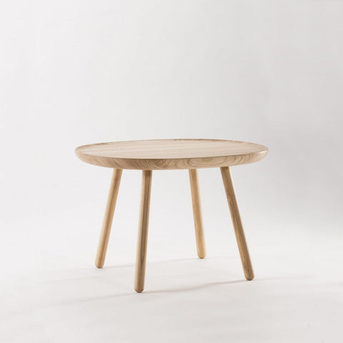 Naïve Side Table, Square D640, Natural Ash by EMKO