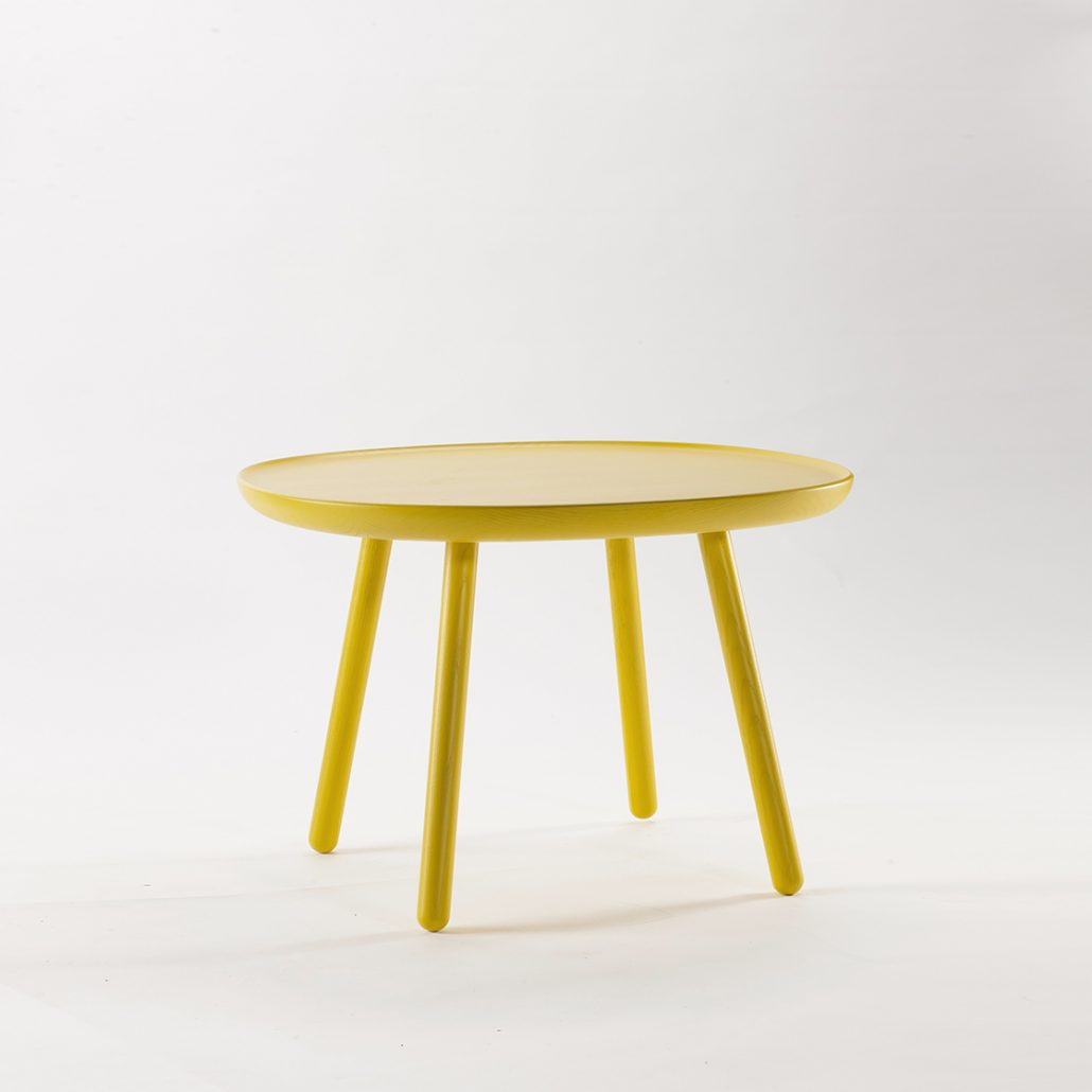 Naïve Side Table, Square D640, Yellow by EMKO