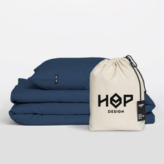Pure Cotton Duvet Cover Obsidian Blue by HOP Design on OOSTOR.com