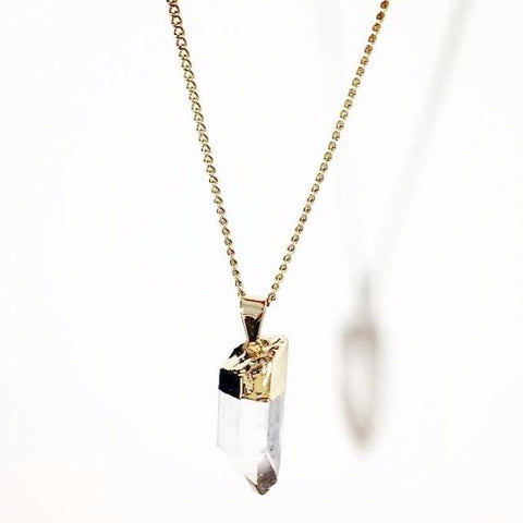 Elv - Clear Crystal Necklace by Crystal & Sage on OOSTOR.com