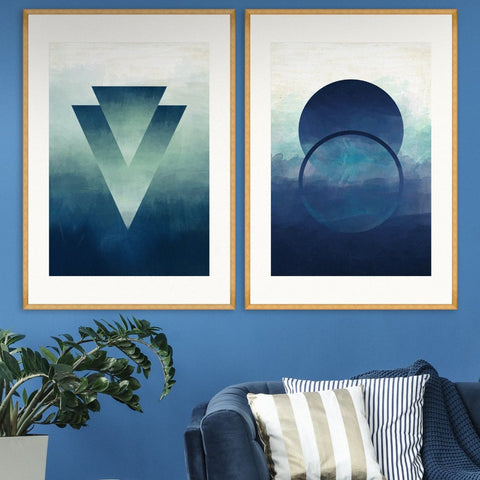 Abstract Ombre I Art Print by Mind The Gap