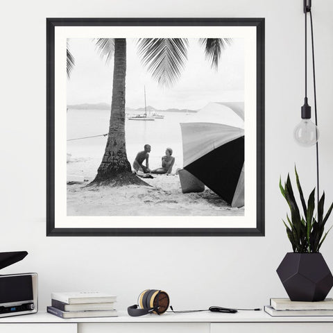 On The Beach Art Print by Pad Home on OOSTOR.com