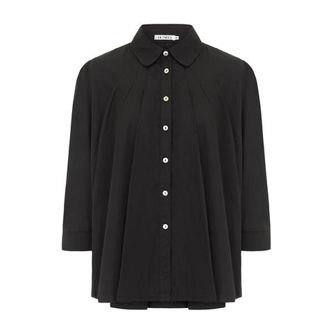 Outsider Trapeze blouse in black organic cotton by Outsider Fashion on OOSTOR.com