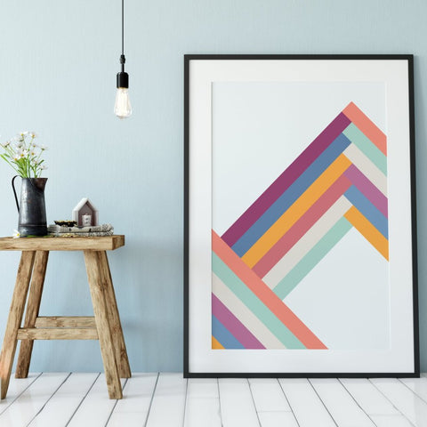 Mountain Range Print by The Native State