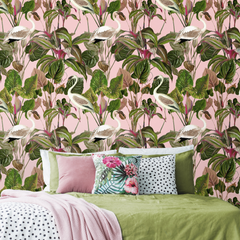 Beverly Hills Pink Wallpaper by Pad Home on OOSTOR.com