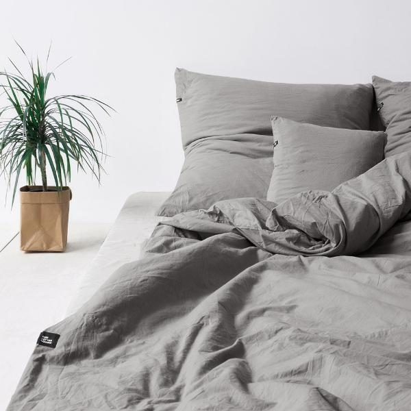 Dark Grey Pure Cotton Duvet Cover by HOP Design on OOSTOR.com