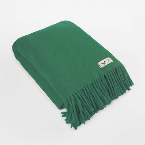 Green Bottle YETI - Pure Wool Blanket by HOP Design on OOSTOR.com