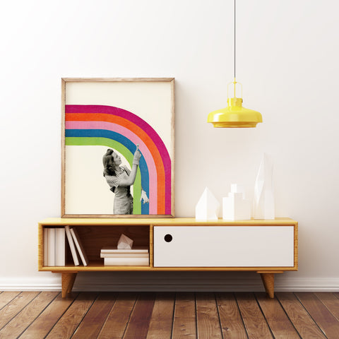 Paint a Rainbow Art Print by Cassia Beck on OOSTOR.com