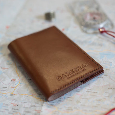 Hand stitched leather Passport Cover