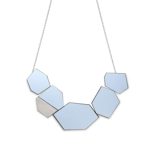 The Ella - Peaceful Blue Reversible Necklace by form.london on OOSTOR.com