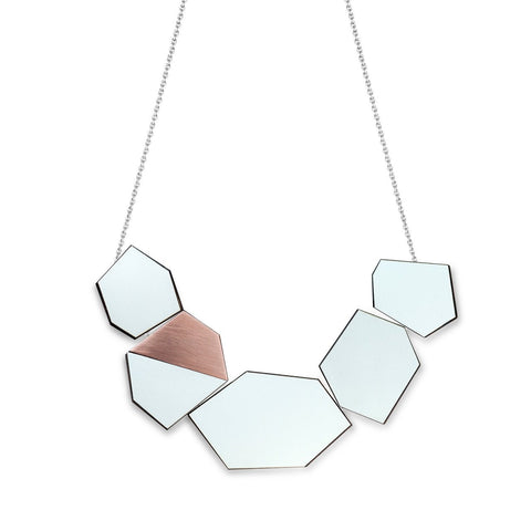 The Ella - Aquamarine Reversible Necklace by form.london on OOSTOR.com