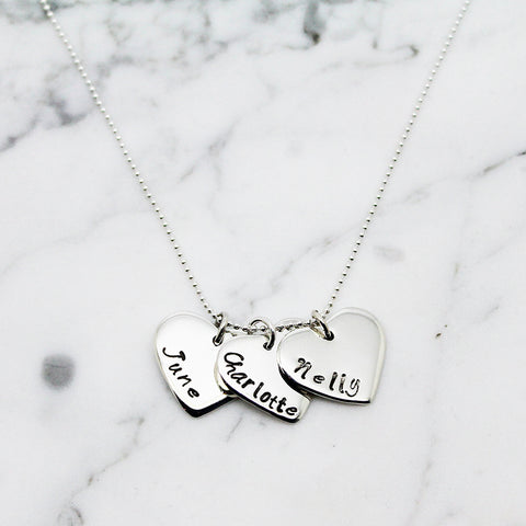 Triple Heart Personalised Necklace