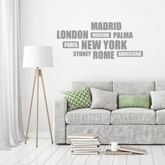 Cities' Wall Sticker
