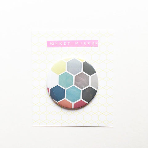 Pocket Mirror - Honeycomb II by Cassia Beck on OOSTOR.com