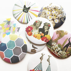 Pocket Mirror - Floral Fashions by Cassia Beck on OOSTOR.com