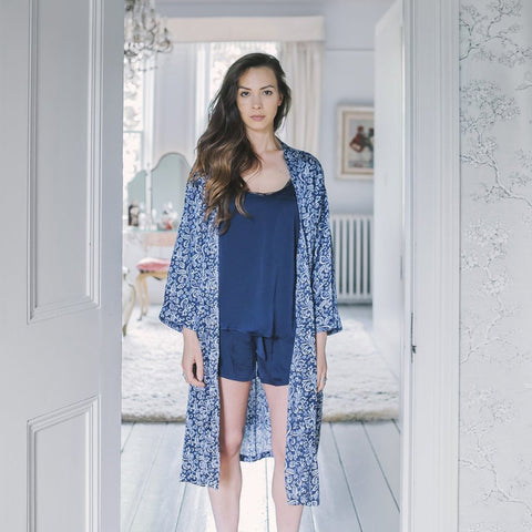 Positano Satin Kimono Dressing Gown by Kate Barnet on OOSTOR.com