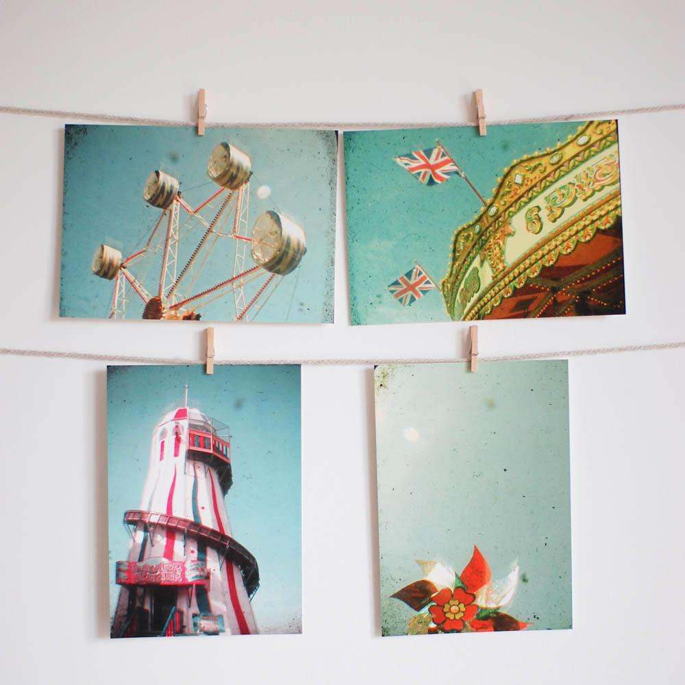 Fairground Postcard Set - The Fair by Cassia Beck on OOSTOR.com