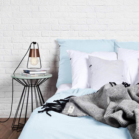 Pastel Blue Pure Cotton Duvet Cover by HOP Design on OOSTOR.com