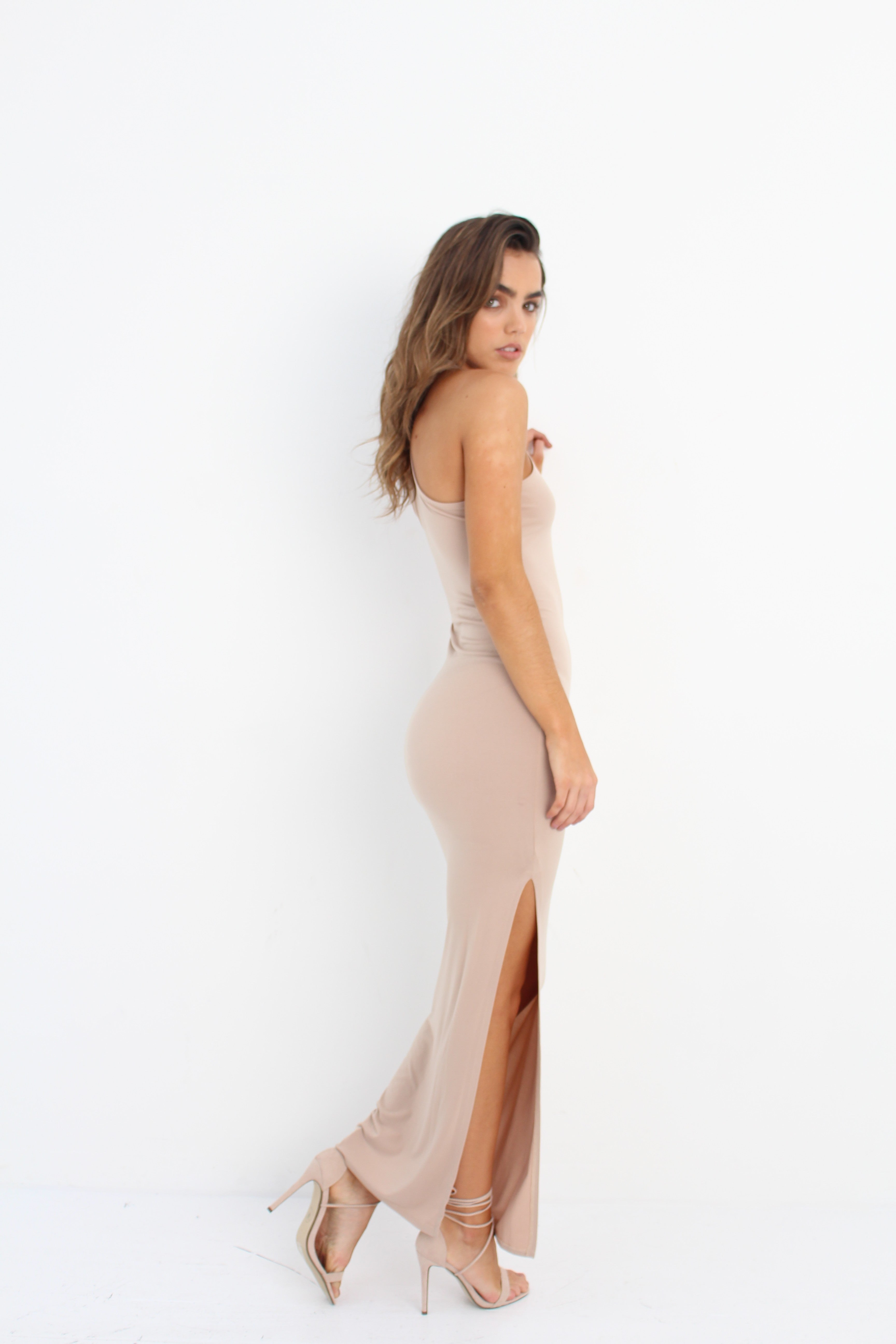 Dawnbreaker Dress Nude by Wired Angel Ltd on OOSTOR.com