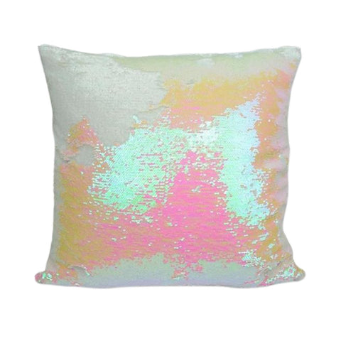 White Pink Champagne Mermaid Pillow by Mermaid Pillow Shop on OOSTOR.com