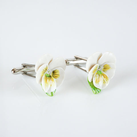 Yellow Pansy Cufflinks