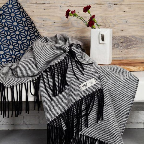 Black RURU - Pure Wool Blanket by HOP Design on OOSTOR.com