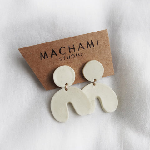 Bull Porcelain Earrings by Machami Studio on OOSTOR.com
