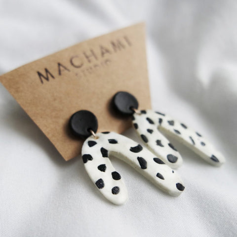 Bone Porcelain Earrings by Machami Studio on OOSTOR.com